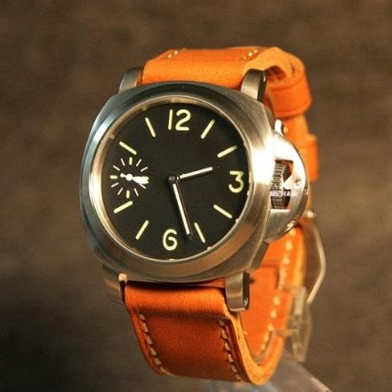 Parnis 手巻き メンズ腕時計 機械式 44m
