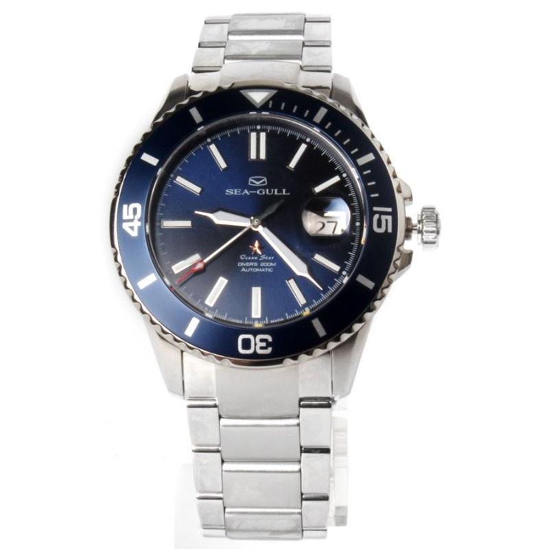 Seagull 自動巻き 機械式腕時計 20気圧防水 44mmm ダイバー サファイアクリスタル