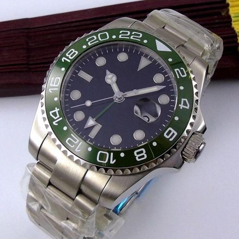 Bliger 43mm 自動巻き 機械式腕時計 メンズ サファイアクリスタル  セラミック