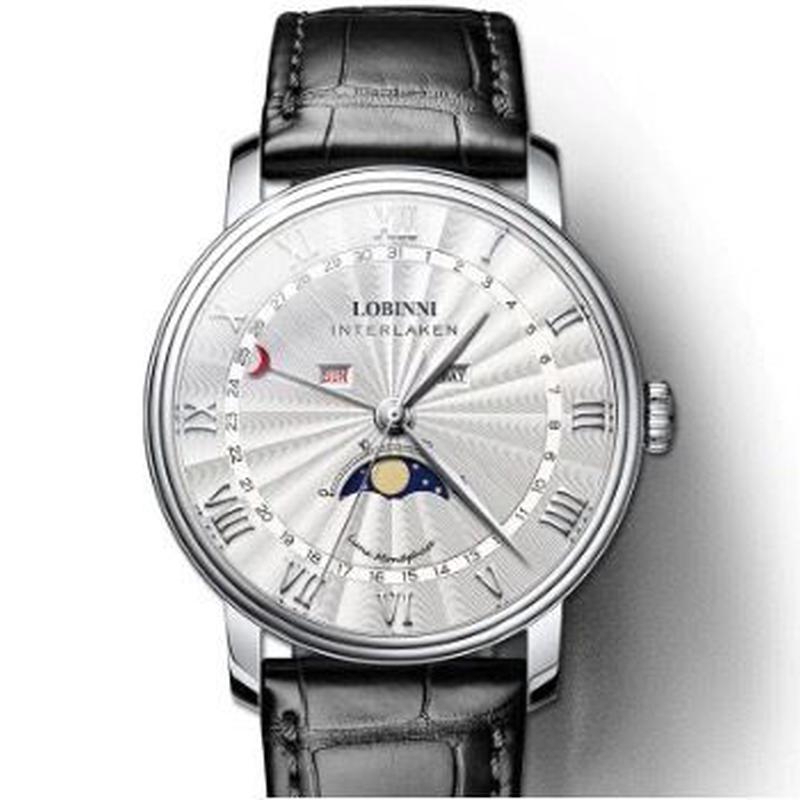LOBINNI メンズ クォーツ腕時計 サファイアクリスタル風防 ミヨタムーブ搭載