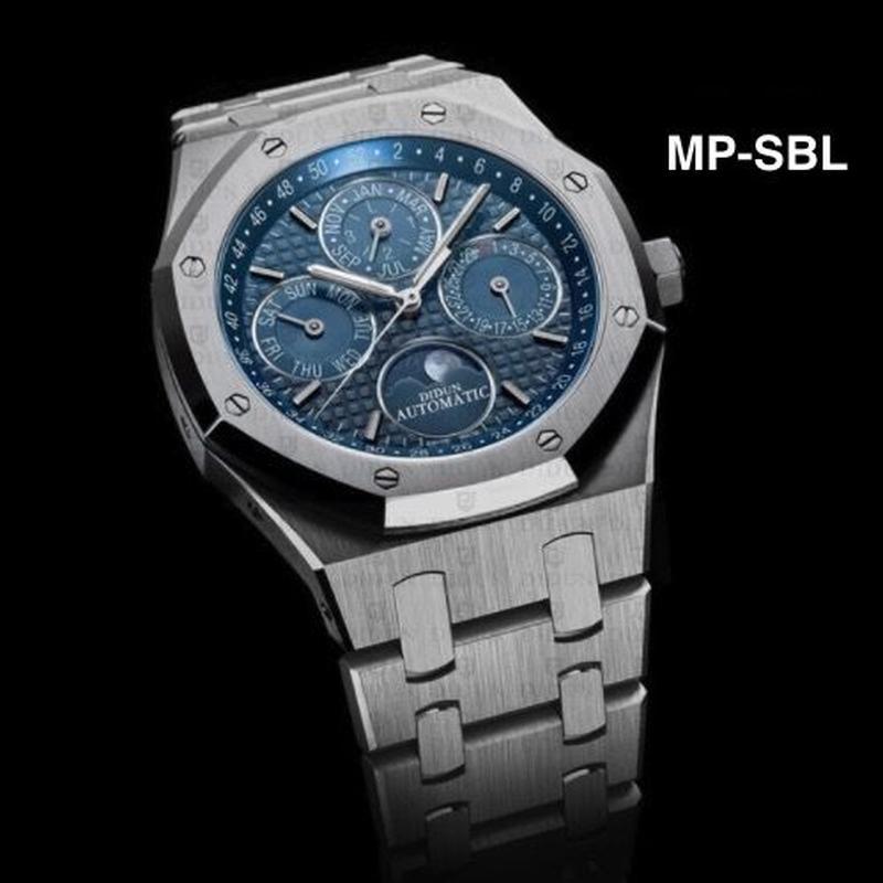 DIDUN 自動巻き 機械式腕時計 メンズ ムーンフェイズ ステンレス 10色展開