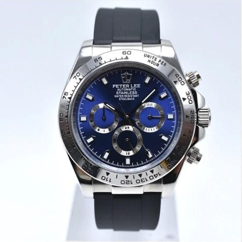 PETER LEE デイトナ風 メンズ 自動巻腕時計 クロノグラフ 全7色