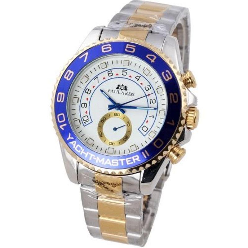 PAULAREIS P ヨットマスター風 メンズ腕時計 機械式 自動巻 ステンレス