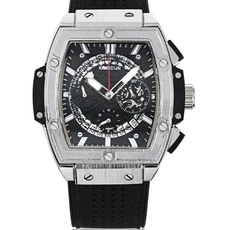 [全5カラー] KIMSDUN メンズ クォーツ腕時計 スクエアタイプ