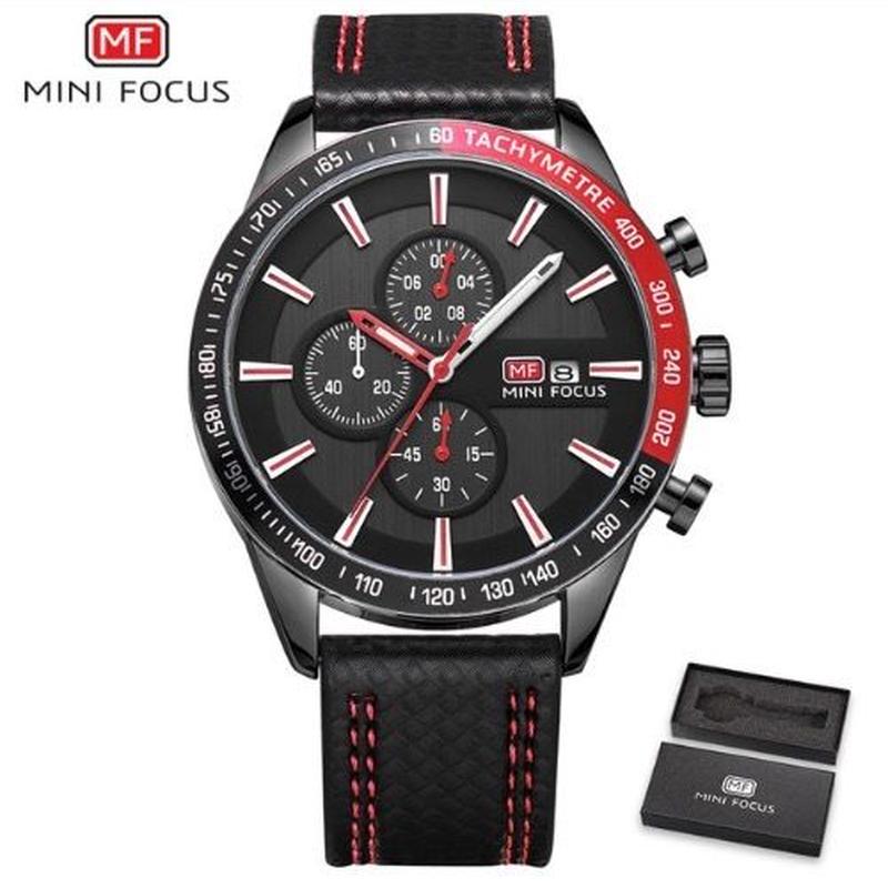 MINIFOCUS メンズ クォーツ腕時計 ミリタリー スポーツ