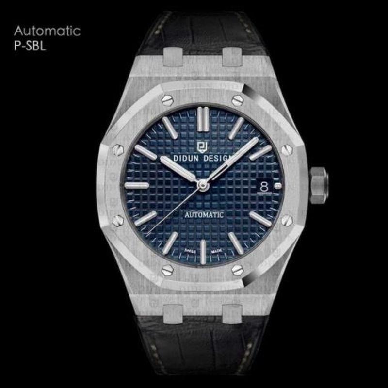 DIDUN DESIGN  自動巻き機械式腕時計 メンズ レザーストラップ カラバリ8色