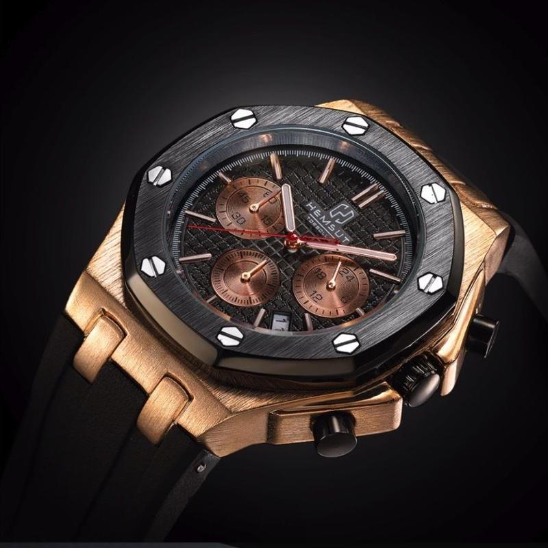 Torbollo クォーツ腕時計 クロノグラフ メンズ ラバーストラップ カラバリ4色