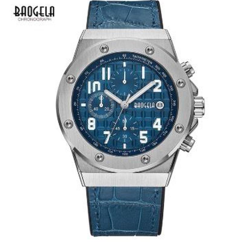 BAOGELA メンズ クォーツ腕時計 全5色 30m防水