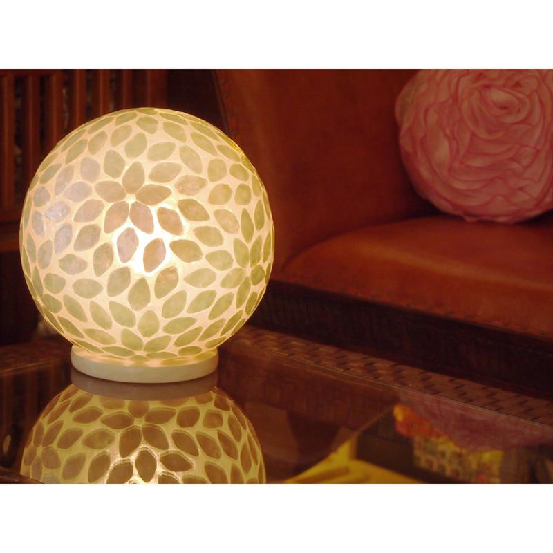 シェルボールランプ  Ф30cm《 Squibe White スクイブ  ホワイト 》( テーブル / シーリング )