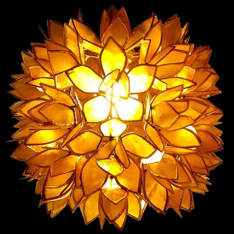 シェルカピスロータスシーリングランプΦ25 Yellow