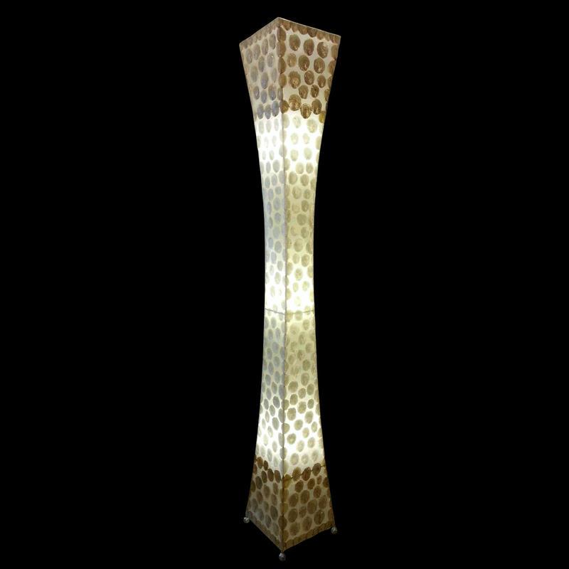 シェルフロアタワーランプ 200cm Snow Gold/White/Gold