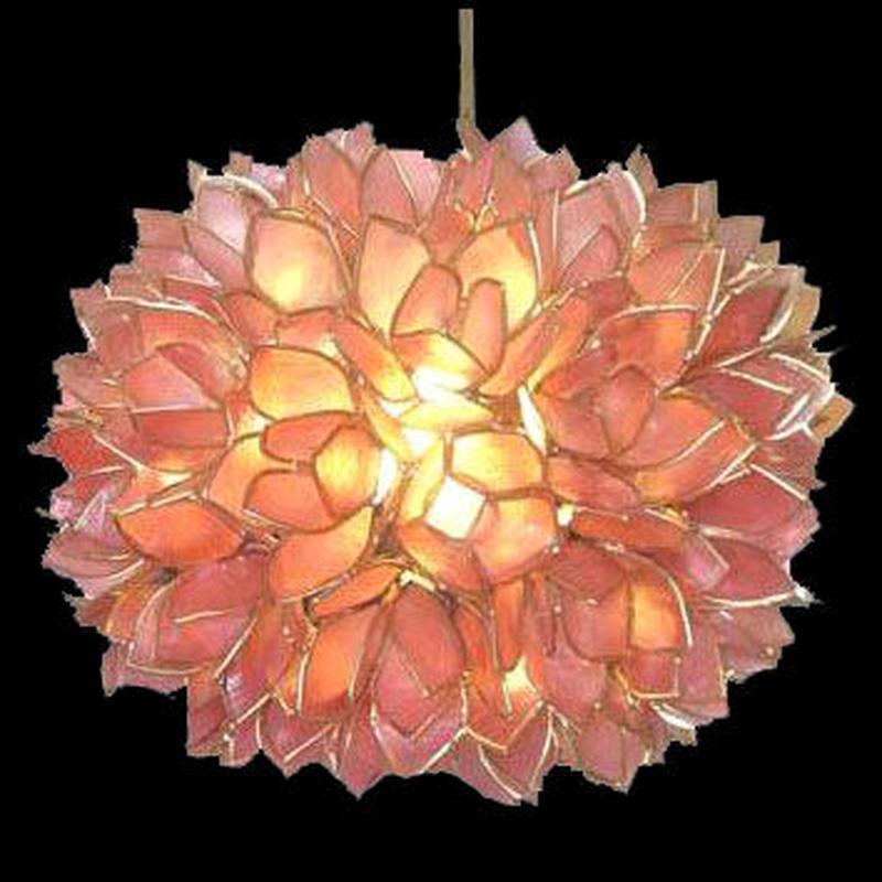 シェルカピスロータスシーリングランプ Φ25 Pink