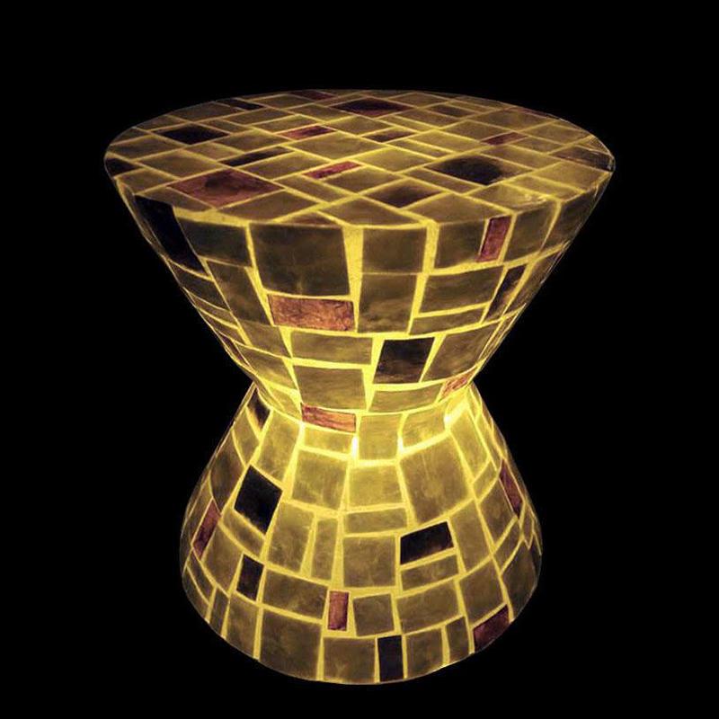 シェルスツール/テーブルランプ Lamp Random