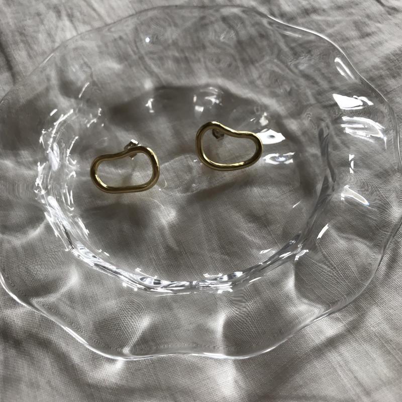 【受注販売7月中旬発送】brass mini round pierce