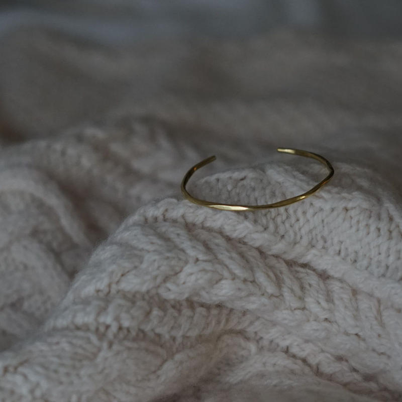 【受注販売】compact  brass bangle