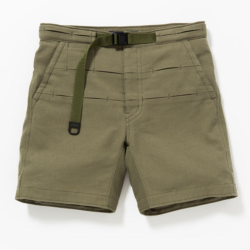 Cotton Birds Eye Waving Cord Board Shorts/KHAKI [MW-PT16105]
