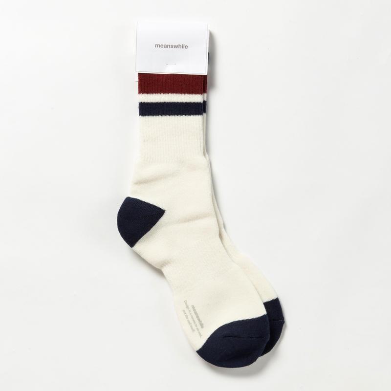Pile Line Socks/OFFWHITE x NAVY [MW-AC18110]