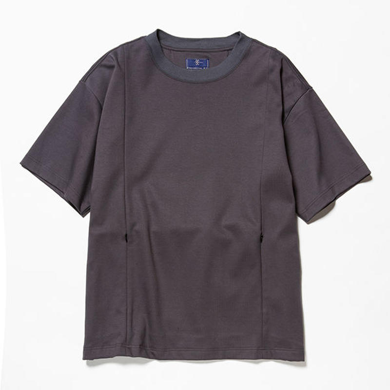 GIZA Cotton Sack Tee/CHARCOAL [MW-CT18201]