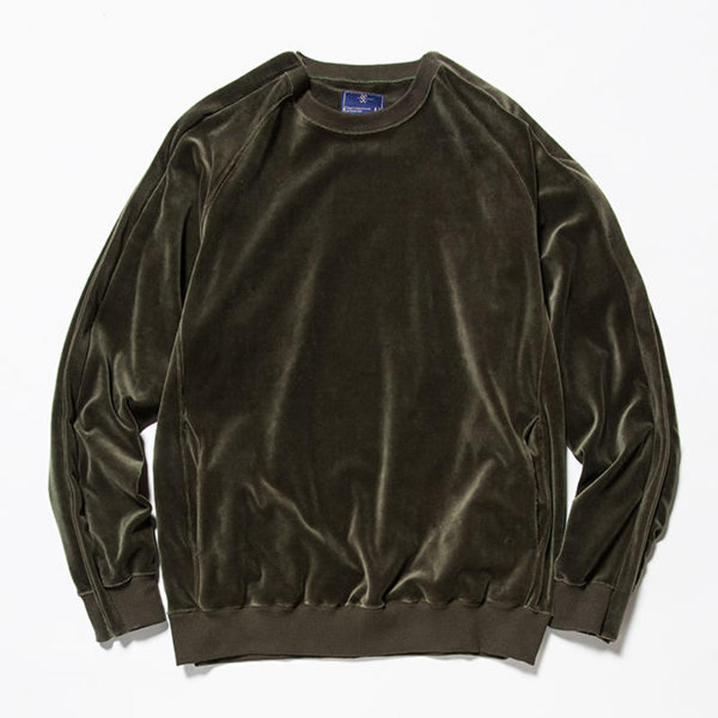 Velour Popper Sweat/KHAKI [MW-CT18202]