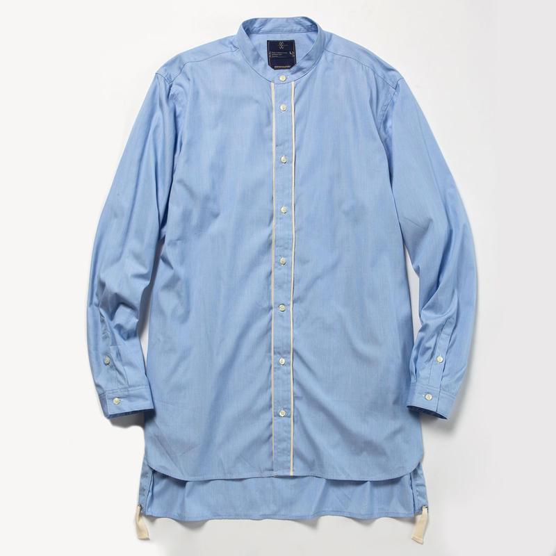 Pinstripe Long Shirt/BLUE [MW-SH18104]