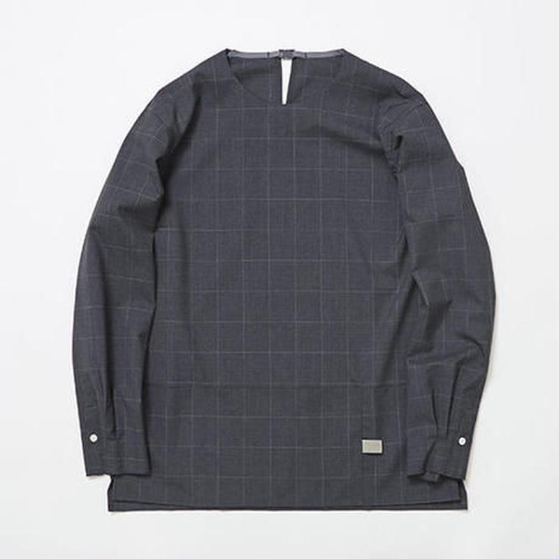 Cordura Wool Stretch Window-pen Pullover SH/CHARCOAL [MW-SH7103]