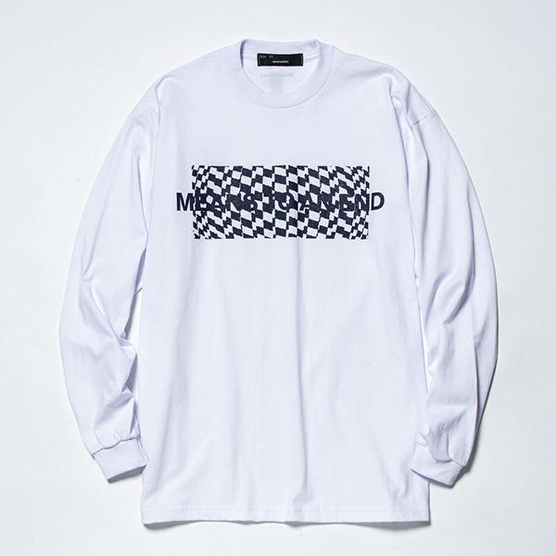 Hidden Print L/S Tee×Ray Masaki/WHITE   [MW-CT19104]