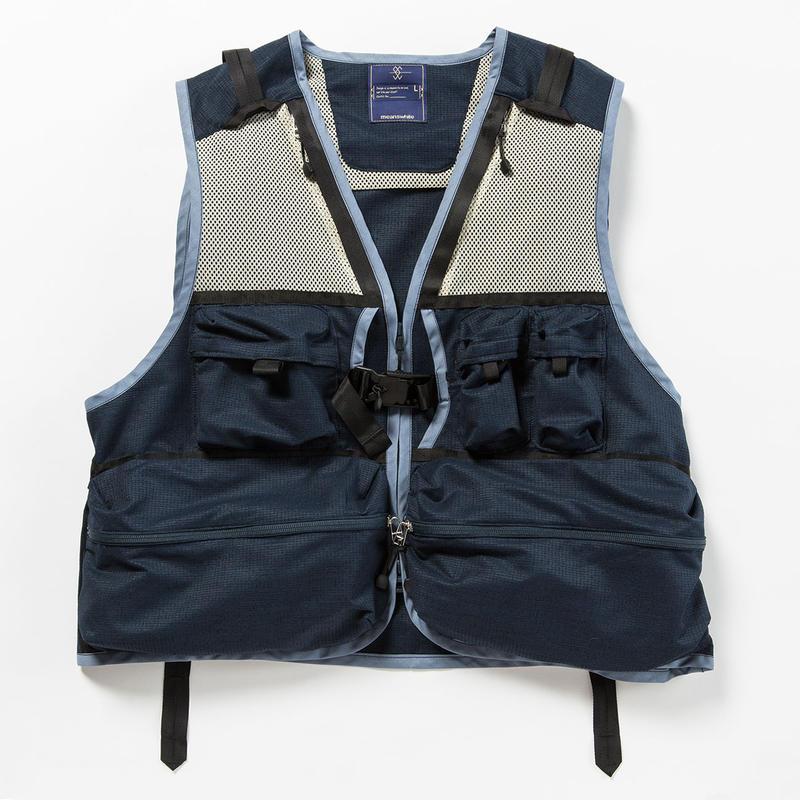 Dry Mesh Luggage Vest/NAVY [MW-JKT18104]