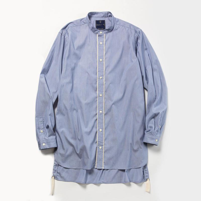 Pinstripe Long Shirt/NAVY [MW-SH18104]