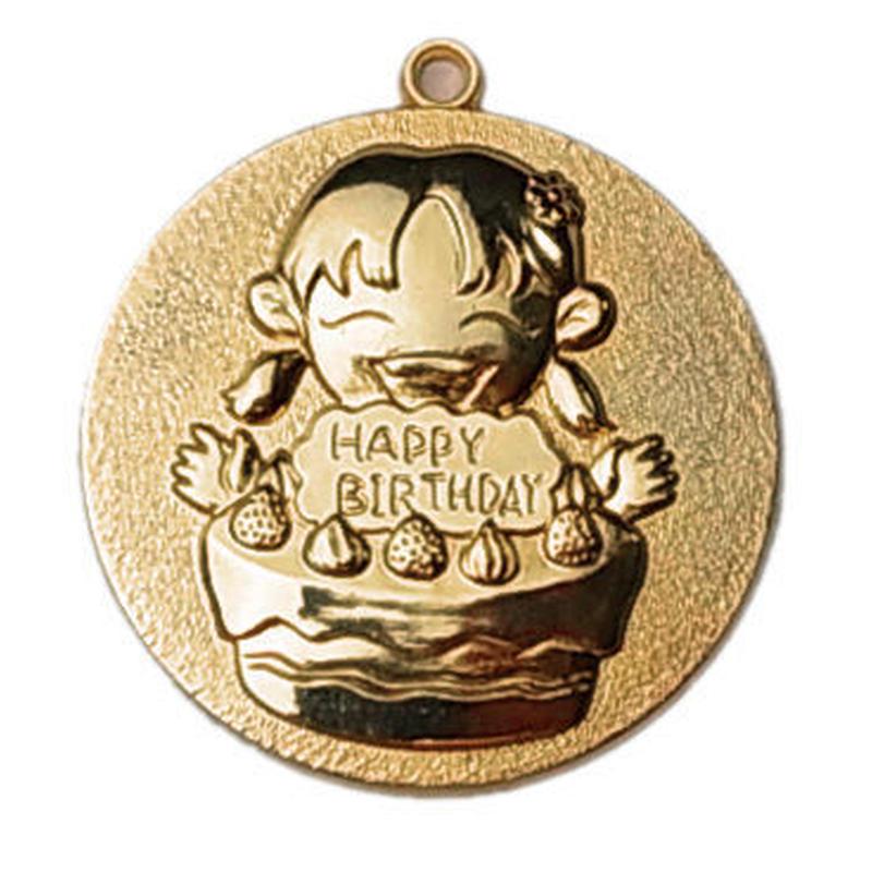 お誕生日メダル女の子