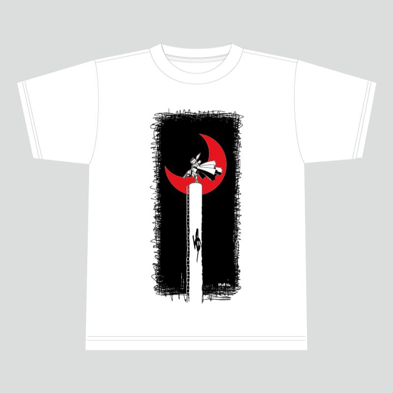 【数量限定再販:3月末発送】メダロットTシャツ_ロクショウ01_ホワイト-MDST006-