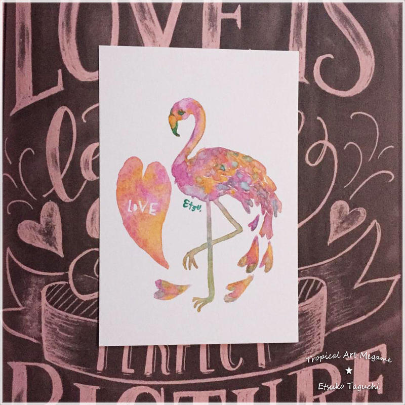 Love Flamingo