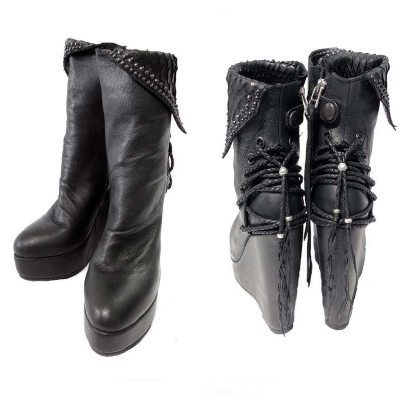 KMRii ・ケムリ・Crush Braided Boots・LADIES BOOTS・予約販売