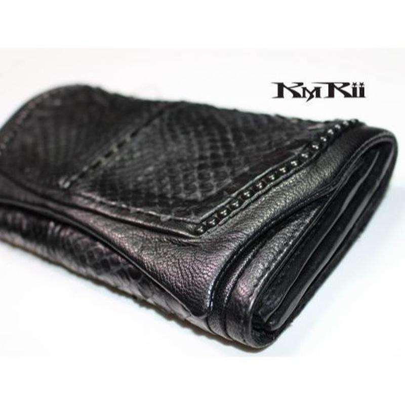 KMRii ・ケムリ・ WB-BLACK DIAMOND ・長財布 ウォレット・サイフ・パイソンレザー