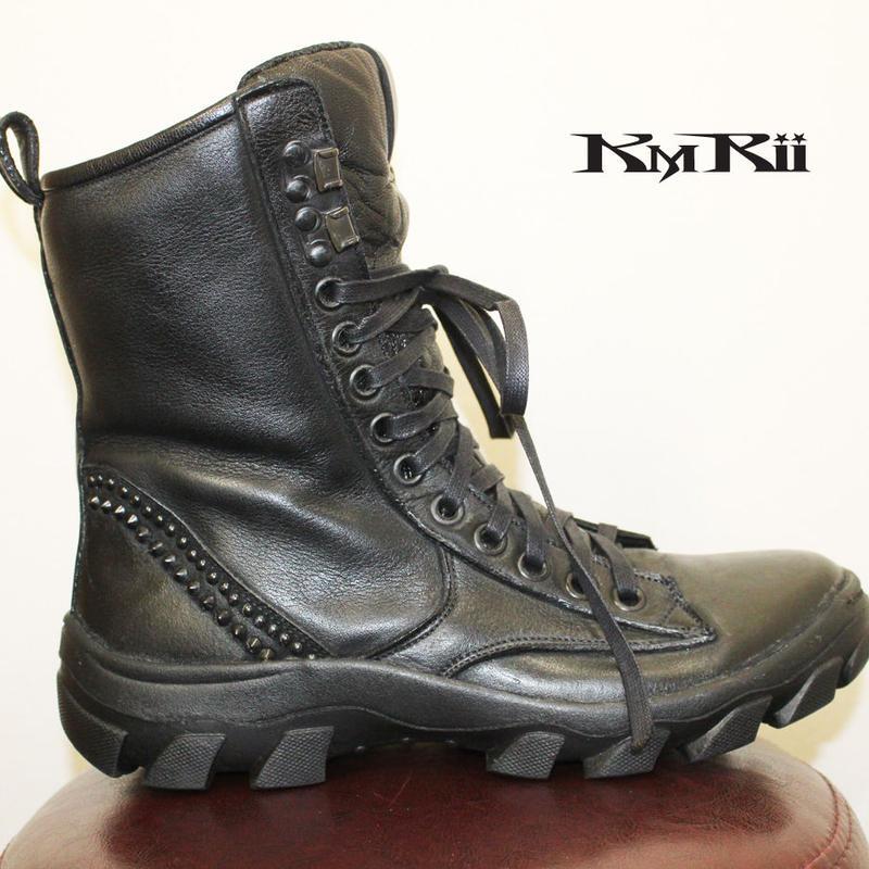 KMRii ・ケムリ・'19/S/S・BLACK METAL SNEAKER 04・編み上げブーツ
