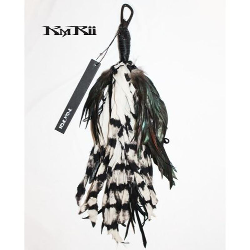 KMRii ・ケムリ・  Feather Hook 07A・Black&White・フェザーフック・
