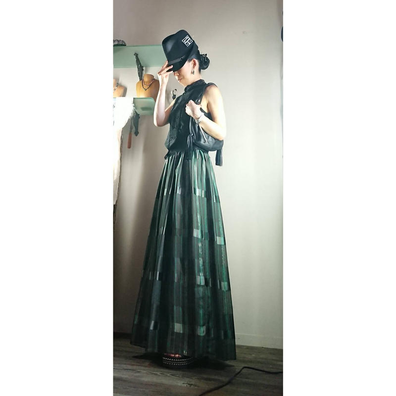 SHARE SPIRIT・シェアースピリット・2019 A/W・FA1928・ハイウエス トロング ギャザースカート