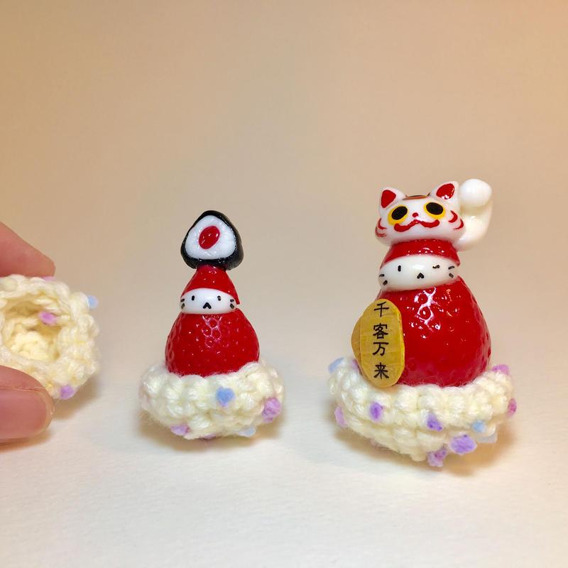苺ぼうやのどんぐりニット(2,000円以上お買い上げ特典)