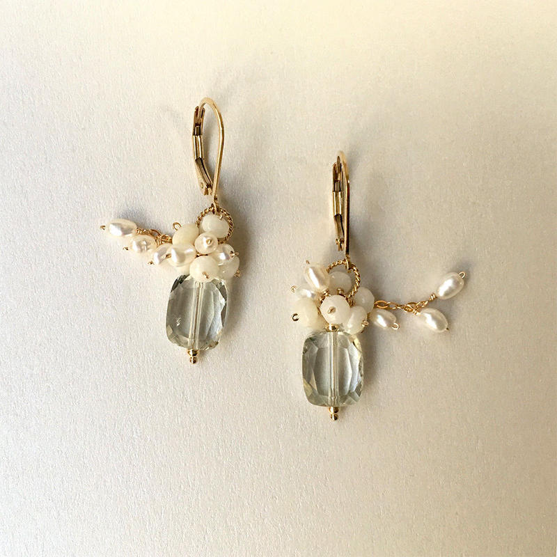 "bouquet pierce & earrings ""Annabel"""