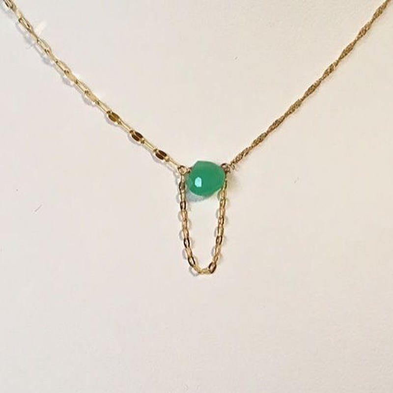 PELO Chrysoprase K10 Necklace