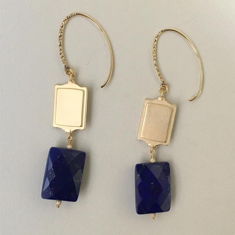 silhouette pierce Lapis lazuli