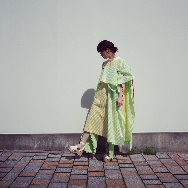 MINJUKIM Square Detail A Line Dress