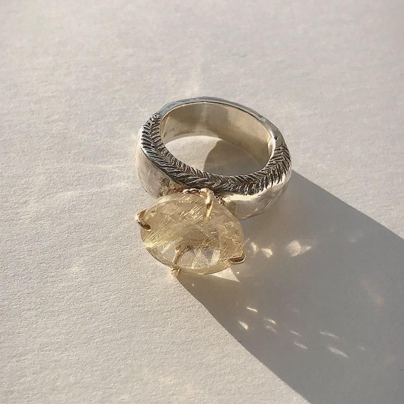 Atlica  rutile  quartz ring
