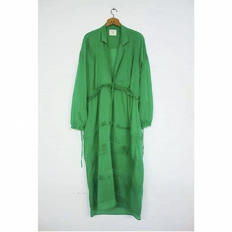 ACCIDENTE CON FLORES green maxi dress