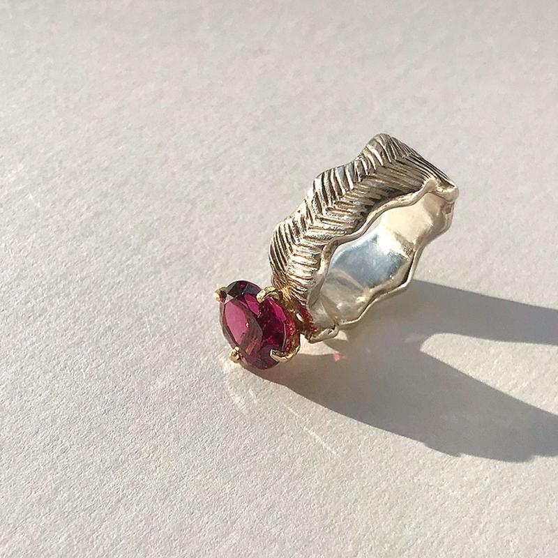 Atlica garnet ring