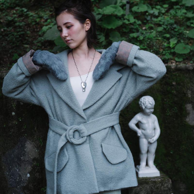 MALKA MOMA big collar coat