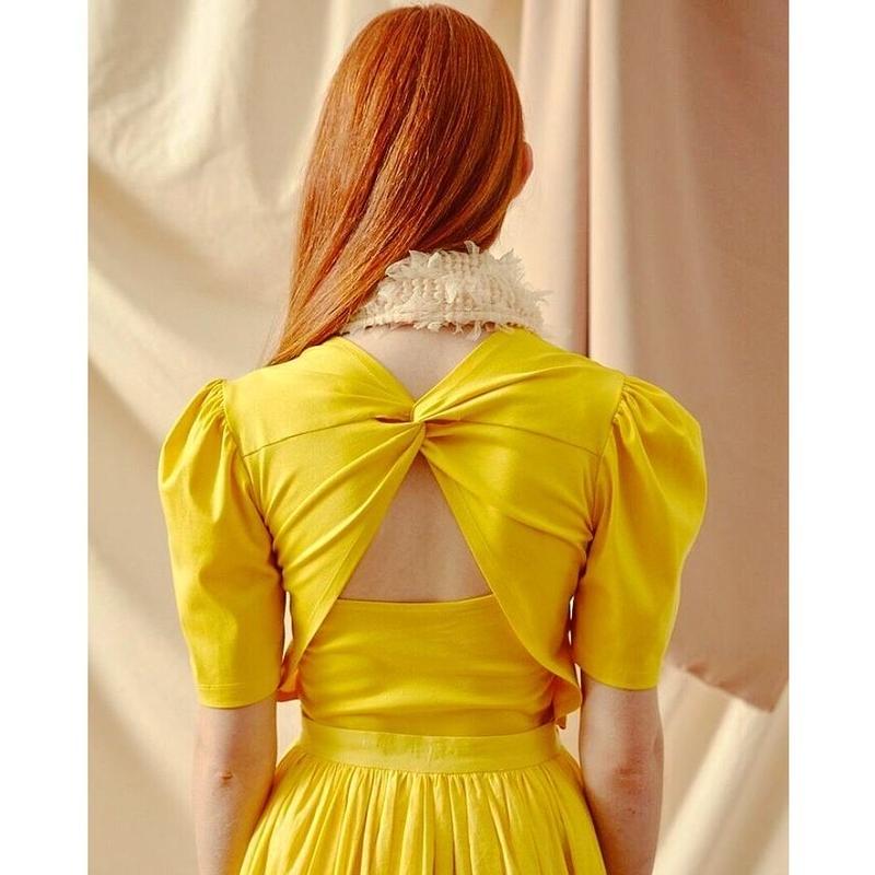 YCH ANNE T Shirt Twist Bow