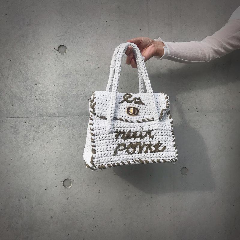 ondev knit bag tore(white)