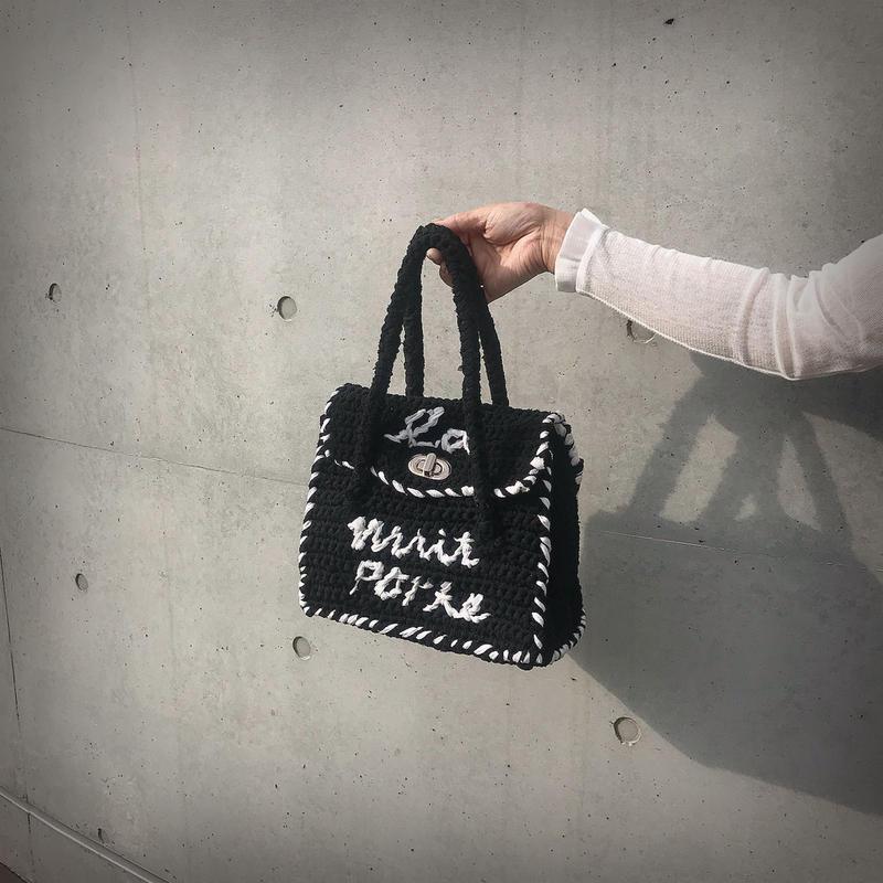ondev knit bag tore(black)