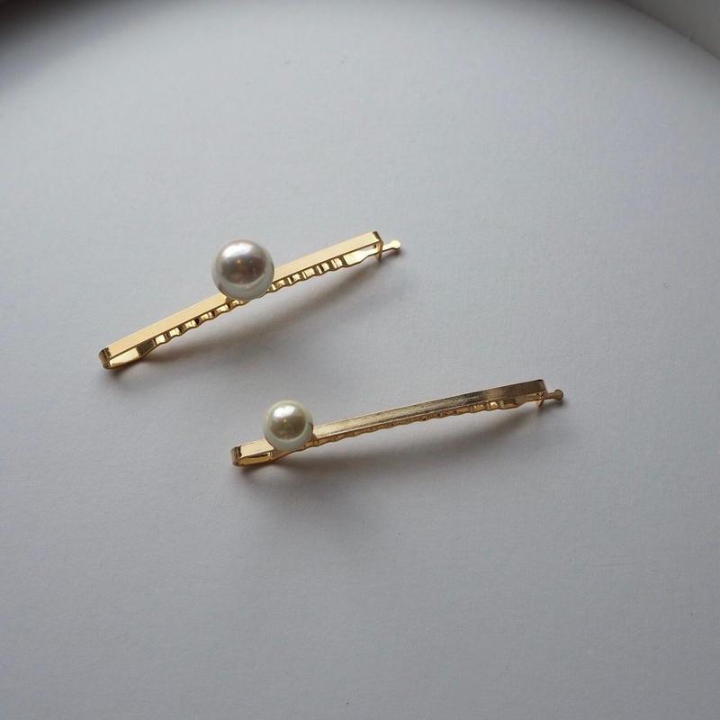 MALKA MOMA pearl hair clip set