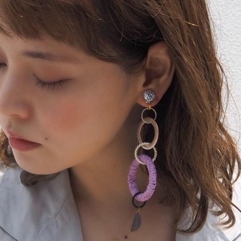pono'i Raffia  earring(lavender)